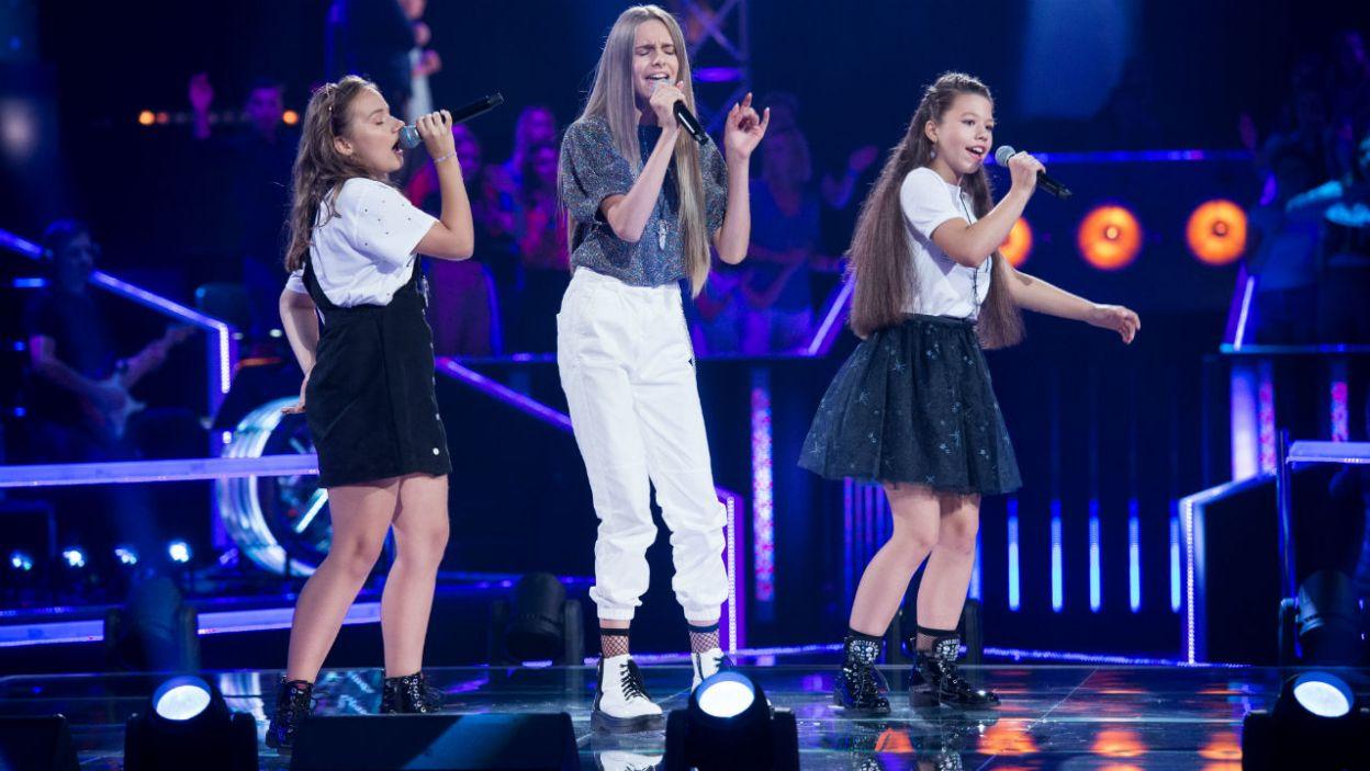 """Czas na dziewczyny! Martyna, Alicja i Ola zachwyciły wykonaniem hitu """"Diamonds"""" Rihanny (fot. J. Bogacz/TVP)"""