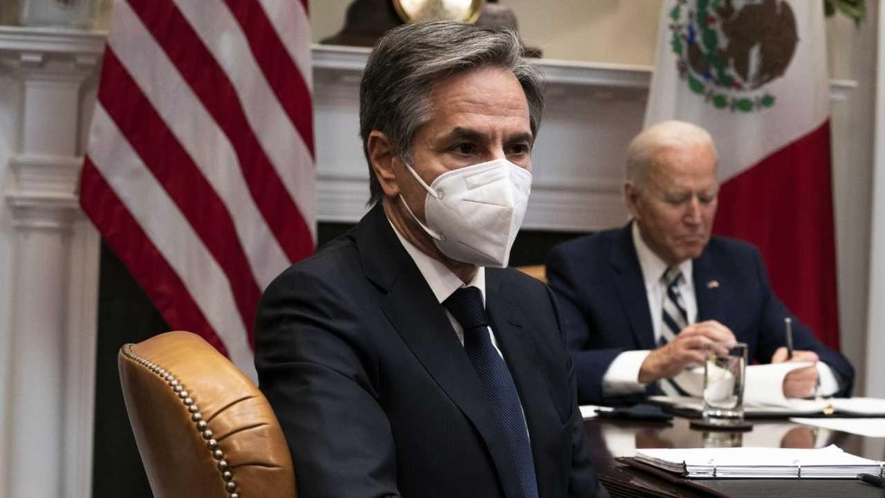 Sekretarz stanu USA Antony Blinken (fot. PAP/EPA/Anna Moneymaker / POOL)