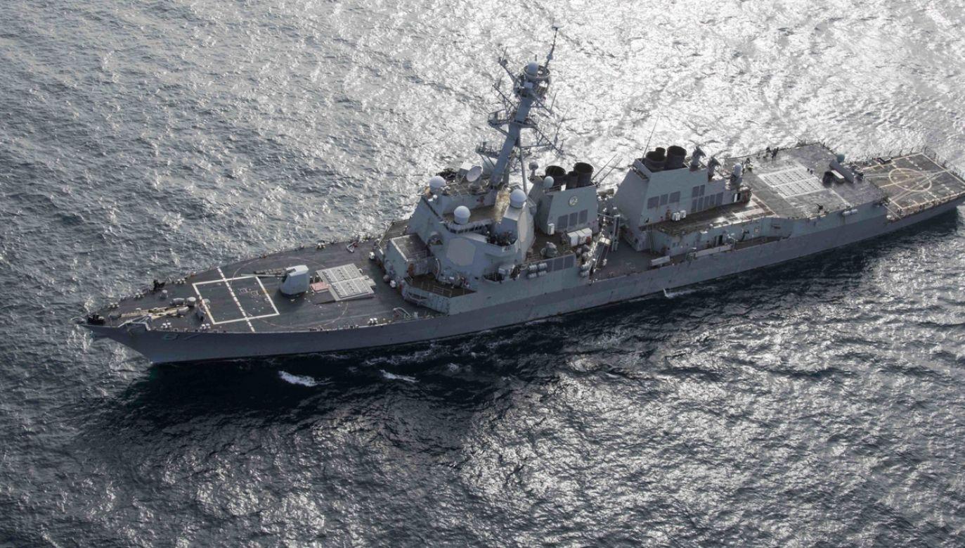 Dwa tankowce były w czwartek celem niezidentyfikowanego ataku u wybrzeży Iranu  (fot. PAP/EPA/CLINT DAVIS / US NAVY HANDOUT)