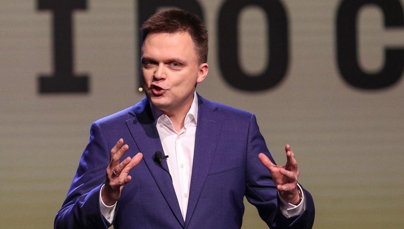 """Szymon Hołownia mówił o """"inwestycji, która ma się zwrócić"""" (fot. Michal Fludra/NurPhoto via Getty Images)"""