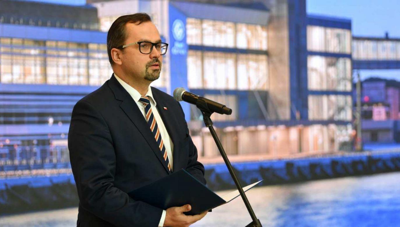 Pełnomocnik rządu ds. CPK Marcin Horała (fot. PAP/Adam Warżawa)