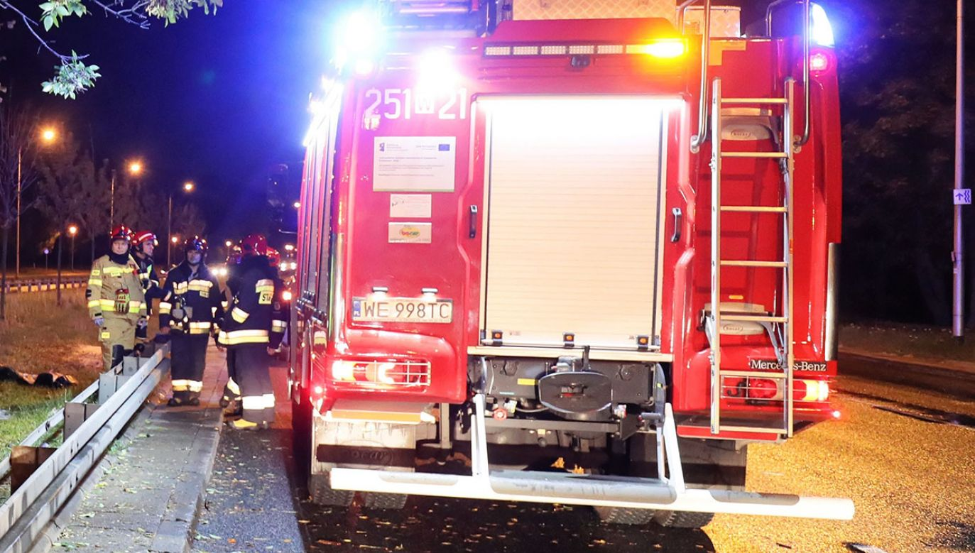 Dwie osoby zginęły w pożarze domu w Gorzycach (fot. PAP/Paweł Supernak, zdjęcie ilustracyjne)