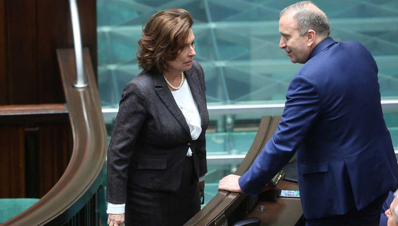 Lider PO Grzegorz Schetyna poinformował, że kandydatką KO na przyszłego premiera będzie Małgorzata Kidawa-Błońska (fot. PAP/Leszek Szymański)