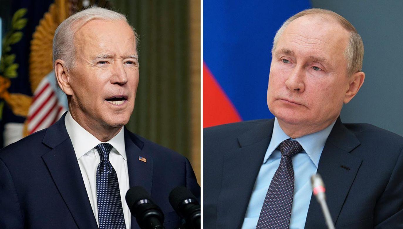 Kolejne sankcje USA wobec Rosji (fot.  Andrew Harnik-Pool/Getty Images; Alexei Druzhinin\TASS via Getty Images)