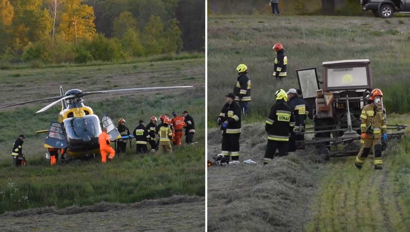Na ratunek dziecku wezwano strażaków i ratowników medycznych (fot. YouTube/Express Kaszubski Video)