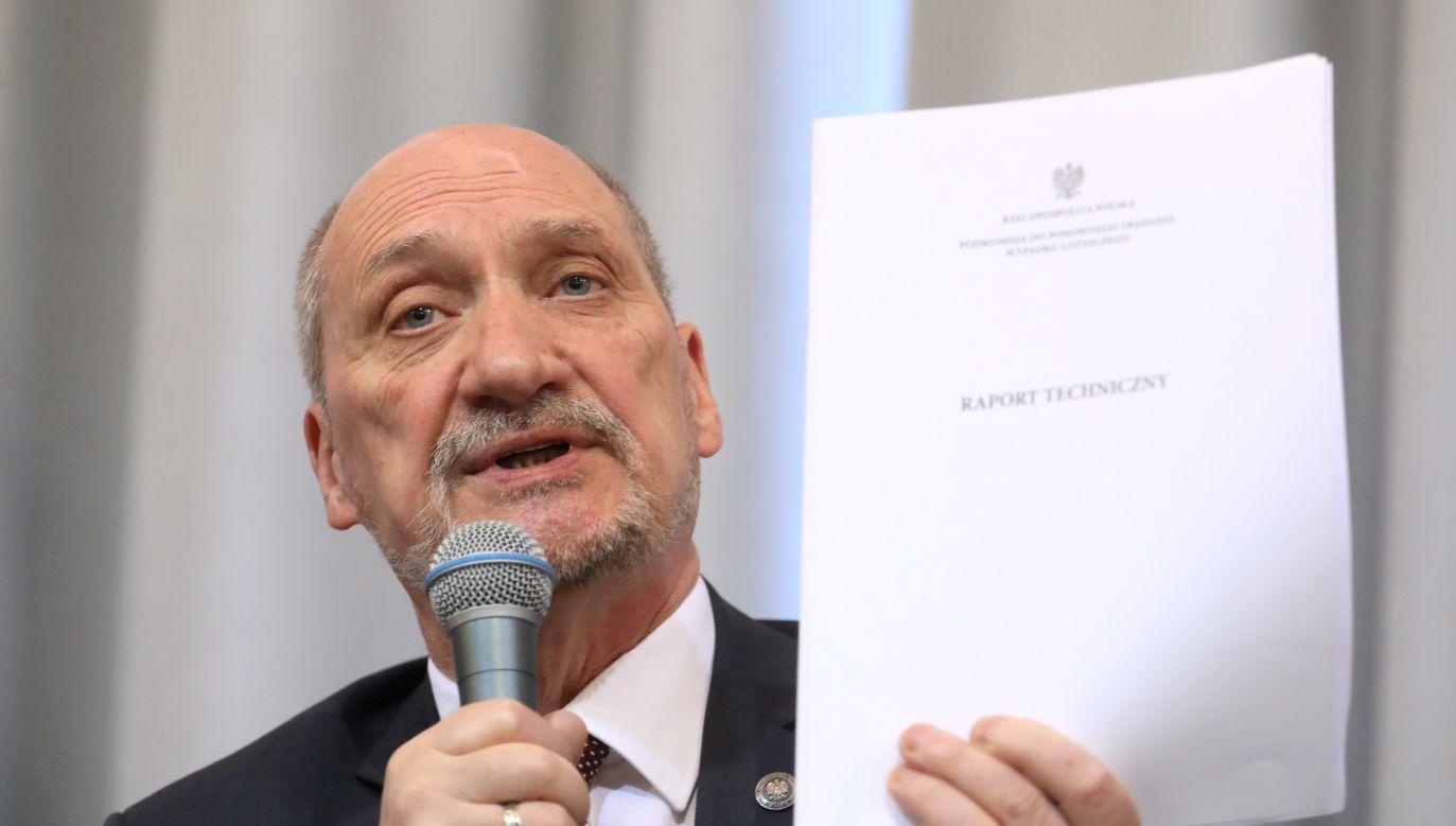 Chairman of the Smolensk air crash investigation subcommittee Antoni Macierewicz. Photo: PAP/Paweł Supernak