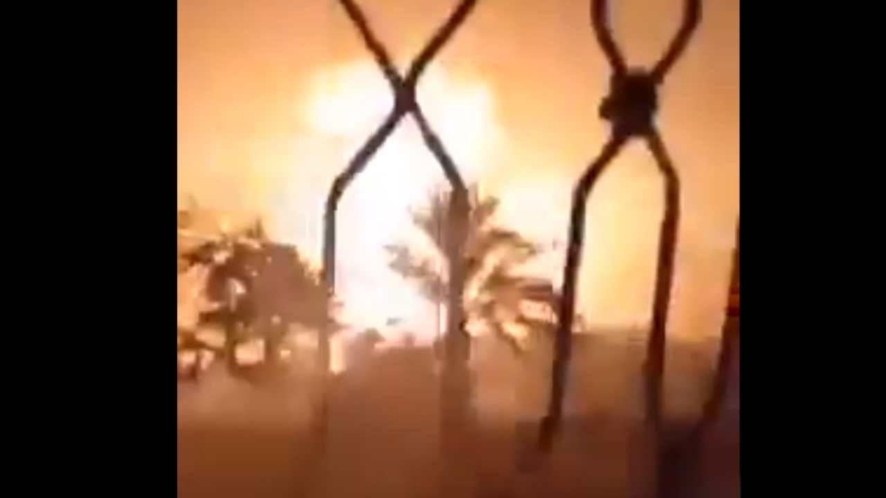 Izraelskie samoloty zrzuciły co najmniej trzy bomby na trzypiętrowy budynek (fot. źródło: Twitter/@PressTV)
