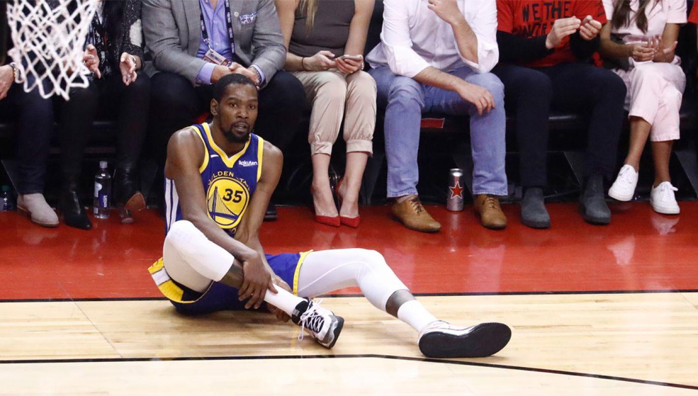 Kevin Durant to dwukrotny mistrz NBA (fot. PAP/EPA/LARRY W. SMITH)