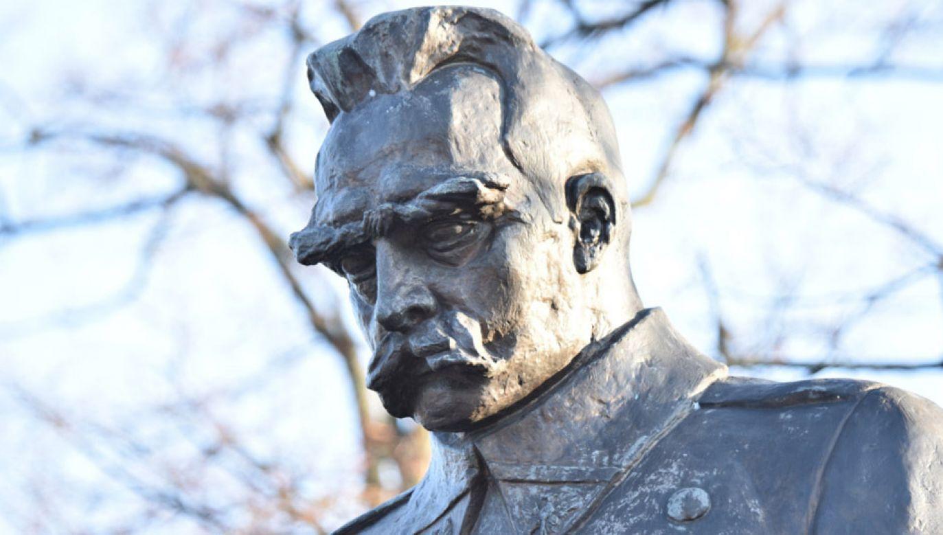 Upamiętniono 152. rocznicę urodzin marszałka Józefa Piłsudskiego (fot.TT/@Kancelaria Sejmu)