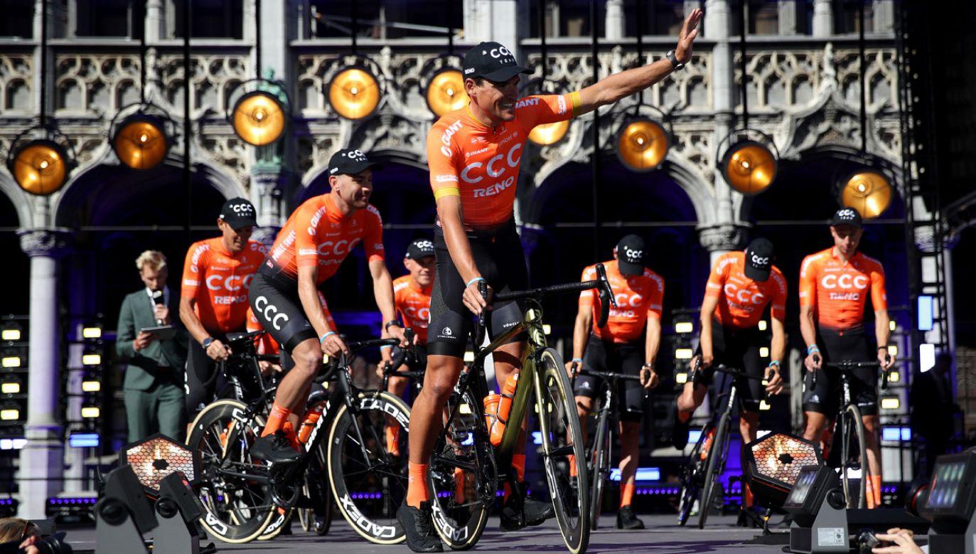 Prezentacja drużyny przed tegorocznym Tour de France (fot. Chris Graythen/Getty Images)