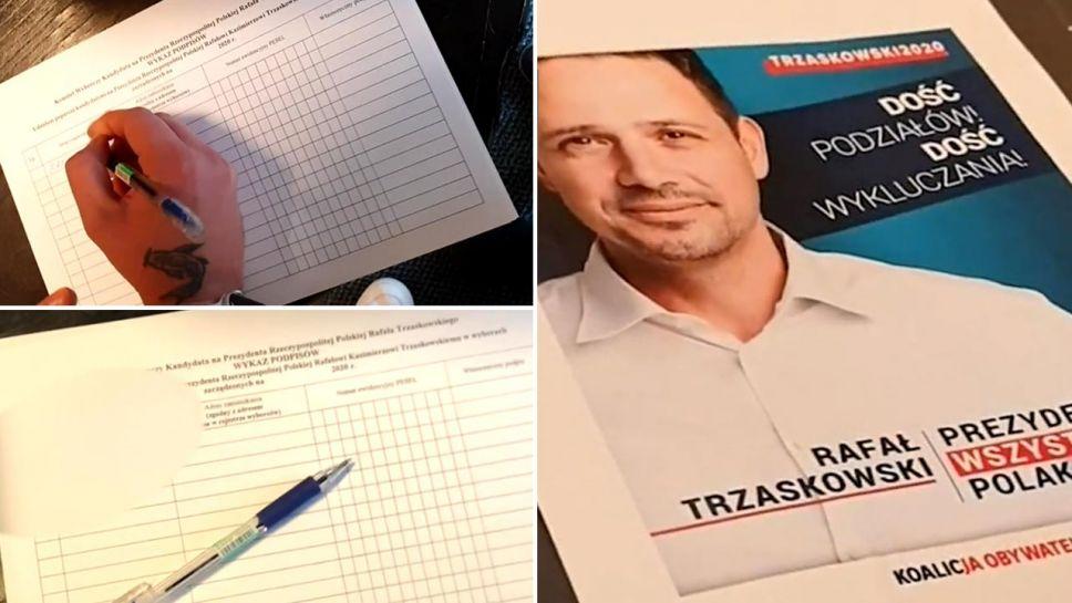 Ujawniliśmy, że w biurze działaczki PO zbierane są podpisy na nowego kandydata PO (fot. portal tvp.info)