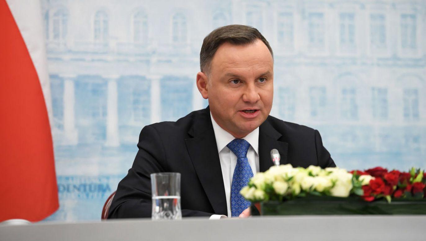 Prezydent złożył wizytę na Litwie (fot.  PAP/Piotr Nowak)
