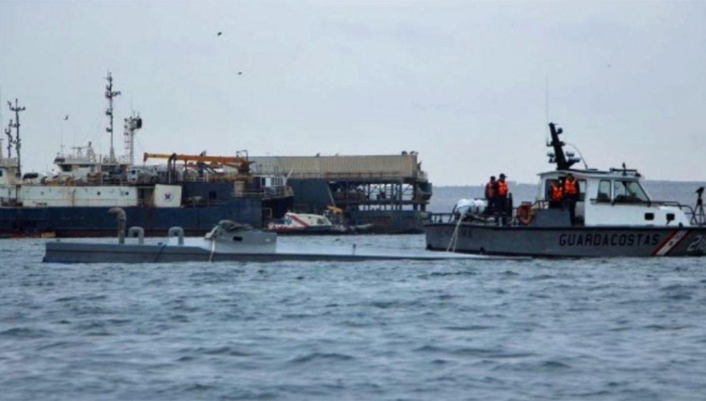 Gangi narkotykowe często wykorzystują łodzie podwodne do transportu narkotyków (fot. TT/PSM.Noticias)