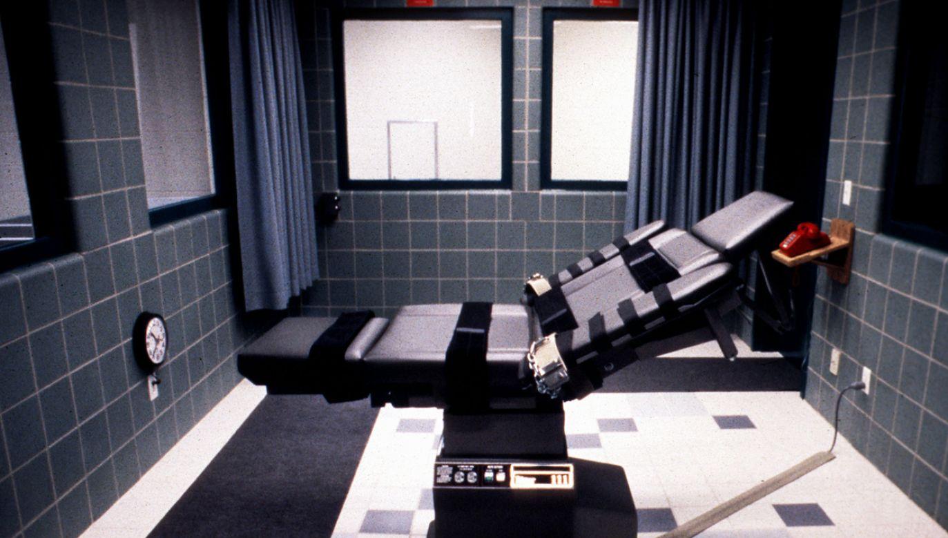 Wyrok miał  być wykonany za pomocą śmiertelnego zastrzyku (fot. arch. PAP/EPA/FEDERAL BUREAU OF PRISONS)