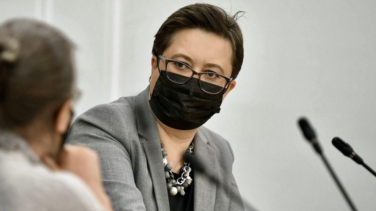 Katarzyna Lubnauer domaga się parytetów wśród gości telewizyjnych (fot. arch.PAP/Marcin Obara)