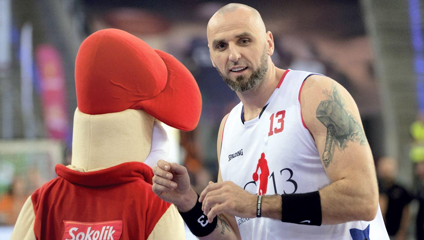 Polski koszykarz Marcin Gortat (fot. PAP/Grzegorz Michałowski)