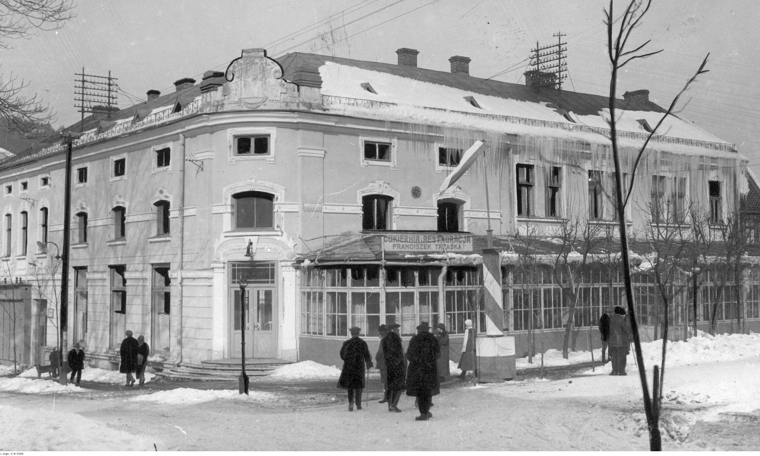 Cukiernia i restauracja Franciszka Trzaski w Zakopanem. Fot. NAC/IKC, sygn. 1-G-7183