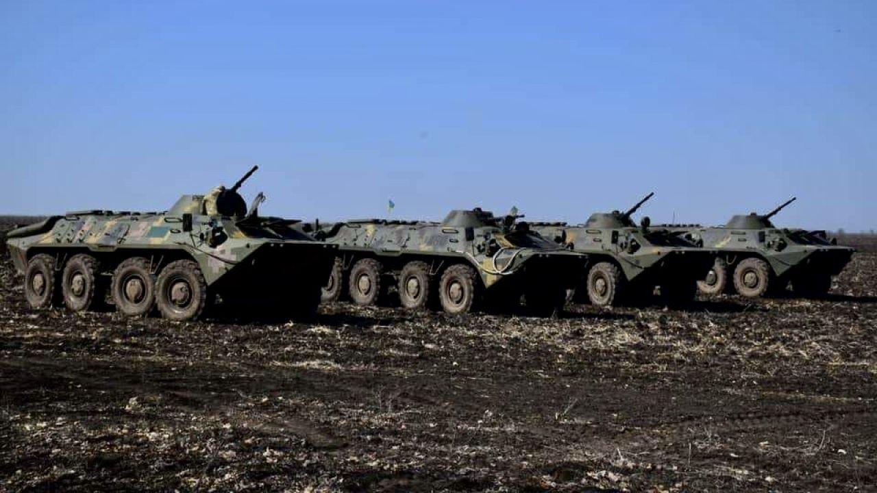 Według KE na granicy  jest ponad 100 tys. żołnierzy  (fot. Ukrainian Armed Forces/Handout/Anadolu/Getty Images)
