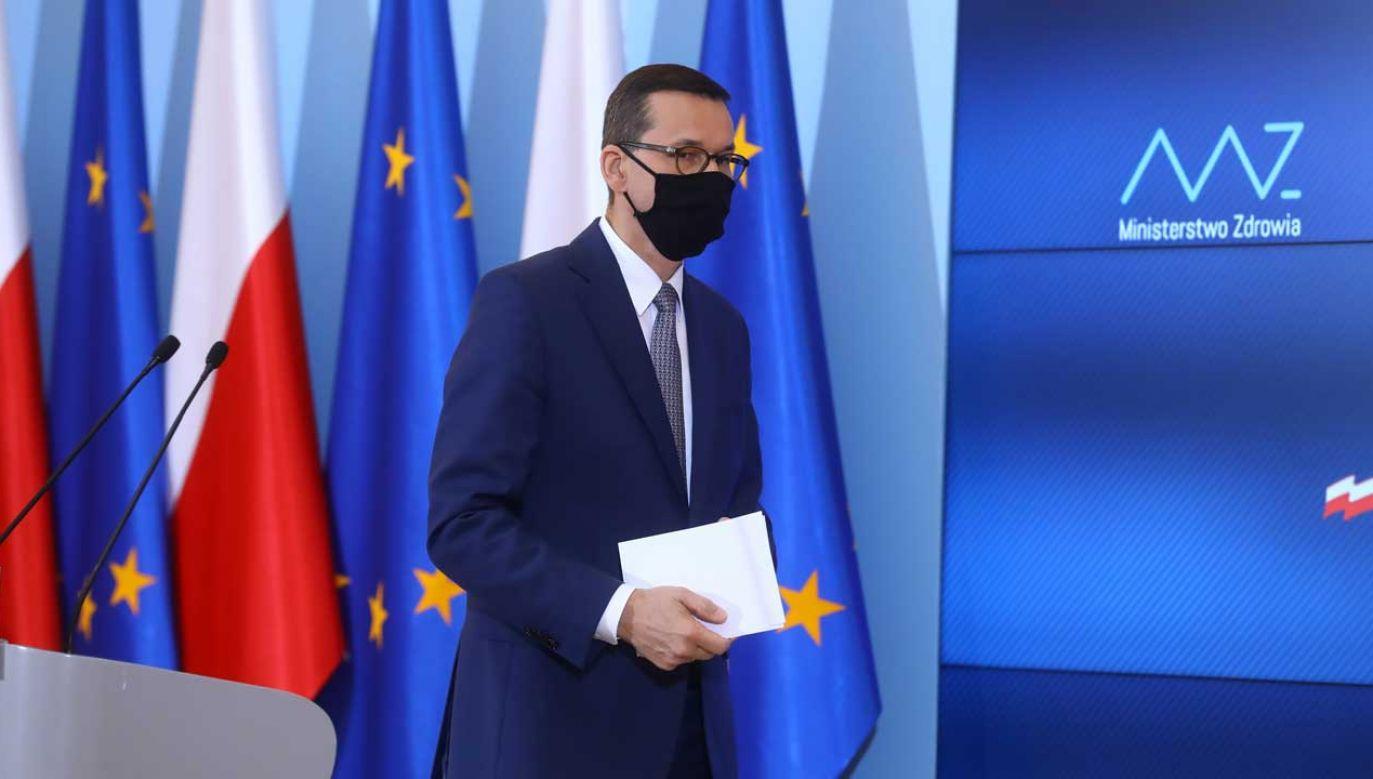 W piątek szef rządu ma przedstawić nowe informacje o nowych środkach w walce z koronawirusem (fot. arch. PAP/Rafał Guz)