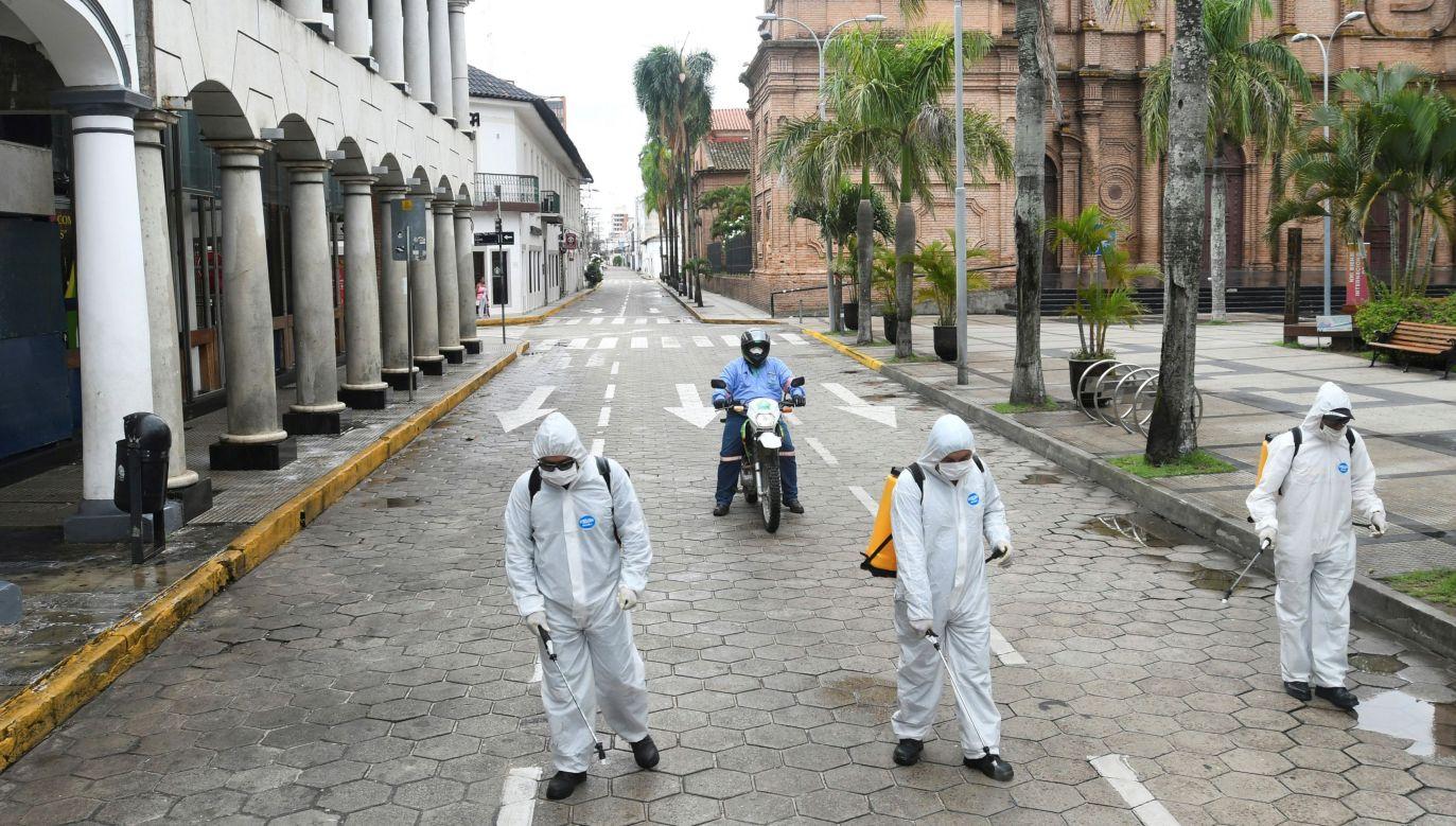 W Boliwii liczba przypadków koronawirusa to 74. Władze podejmują działania zapobiegawcze (fot. REUTERS/Rodrigo Urzagasti)