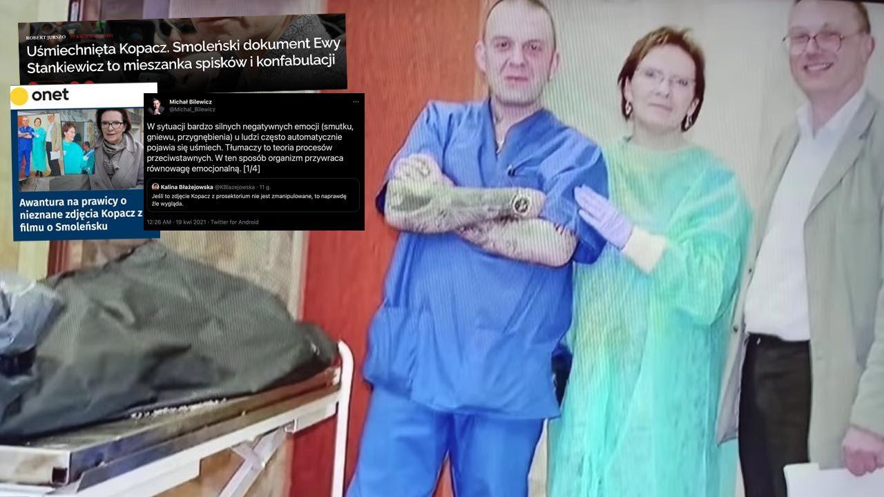 Ewa Kopacz w rosyjskim prosektorium po katastrofie smoleńskiej (fot. TVP)