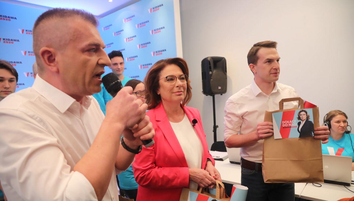 Kandydatka PO na prezydenta Małgorzata Kidawa-Błońska o stan służby zdrowia powinna zapytać szefa sztabu Bartosza Arłukowicza (PAP/Wojciech Olkuśnik)
