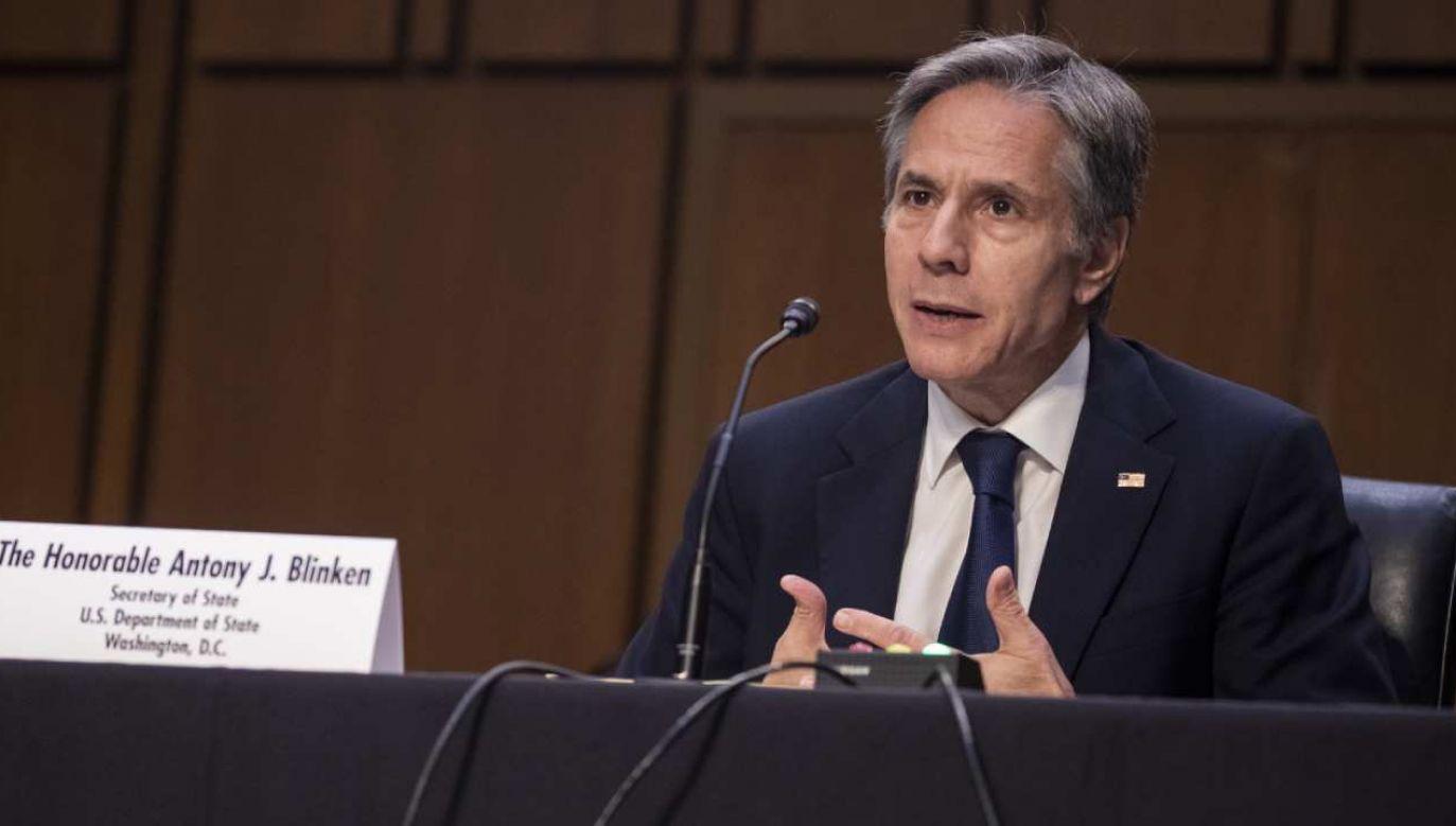 Szef dyplomacji USA Antony Blinken (fot. PAP/EPA/SHAWN THEW)