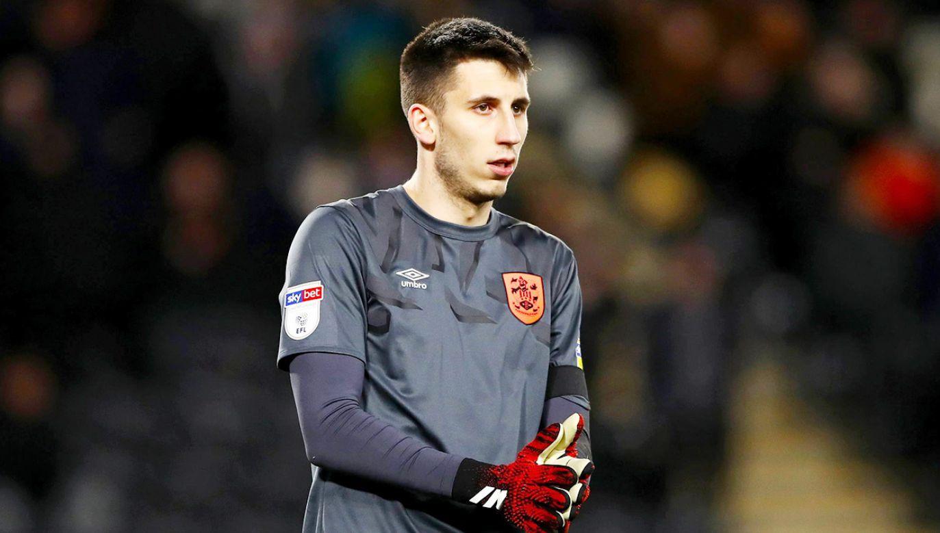 Kamil Grabara jest piłkarzem Liverpoolu wypożyczonym do Aarhus (fot. PAP/PA)