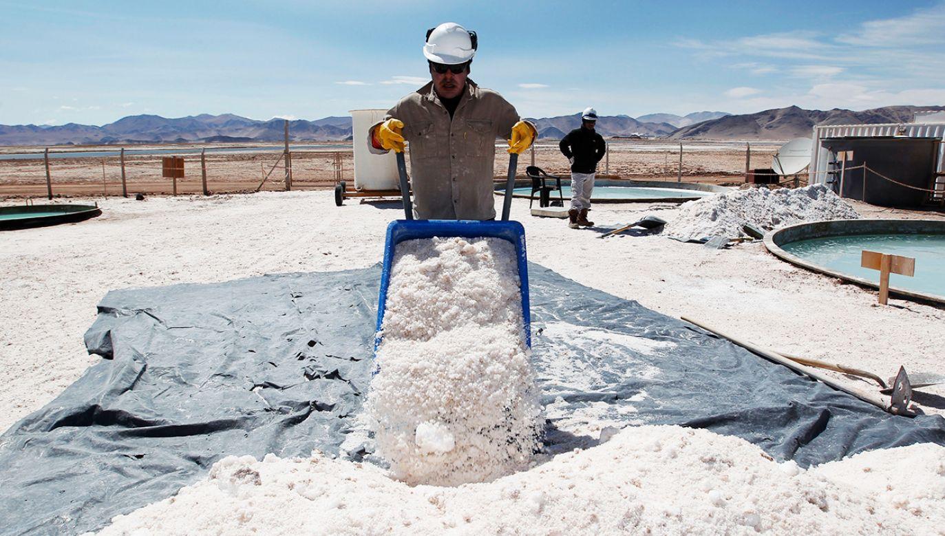 Lit jest niezbędny m.in. do produkcji akumulatorów i telefonów komórkowych (fot. Reuters/Enrique Marcarian)