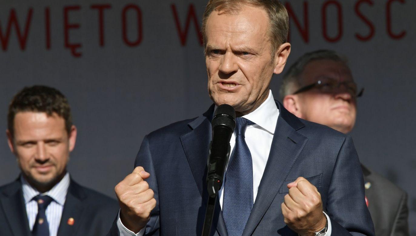 Wcześniej Donald Tusk wspierał Rafała Trzaskowskiego, zwracając się m.in. do wyborców Konfederacji (fot. arch.PAP/Adam Warżawa)