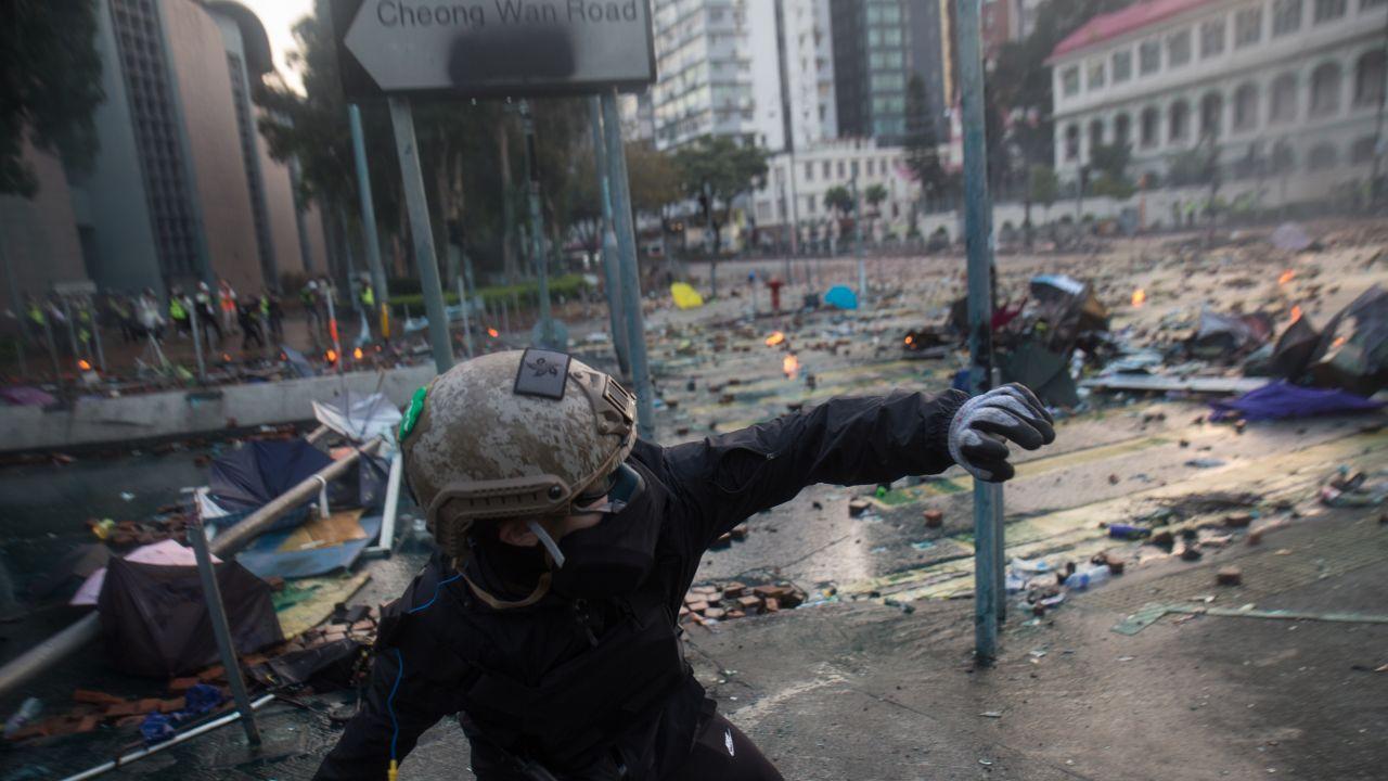 Bezpośrednia przyczyna eskalacji protestów to śmierć 22-letniego studenta (fot. portal TVP.INFO)