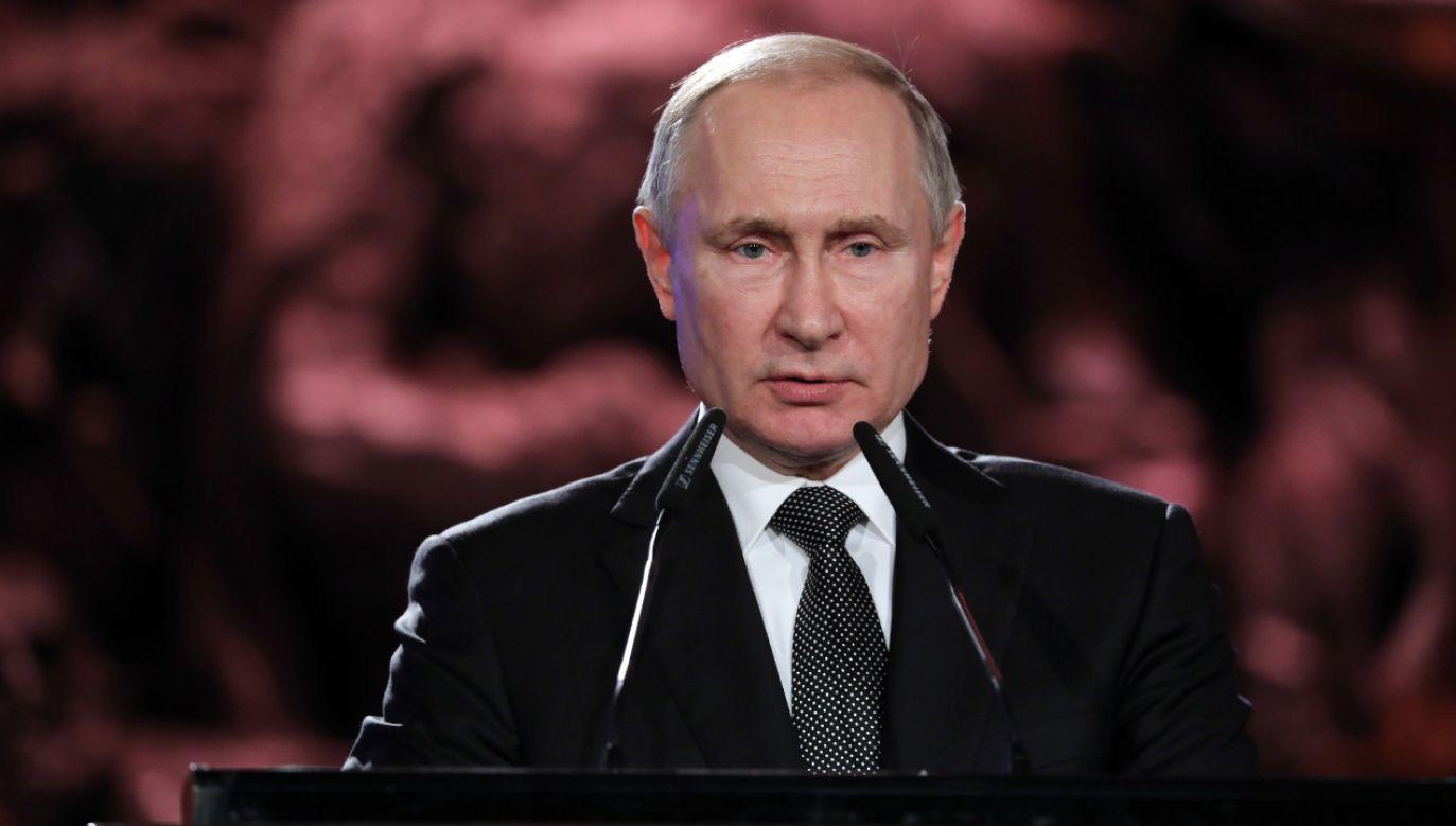 Zdaniem prof. Wysockiego, rosyjski prezydent uznał, że nie opłaci mu się tu zagrać va banque (fot. PAP/EPA/ABIR SULTAN / POOL)