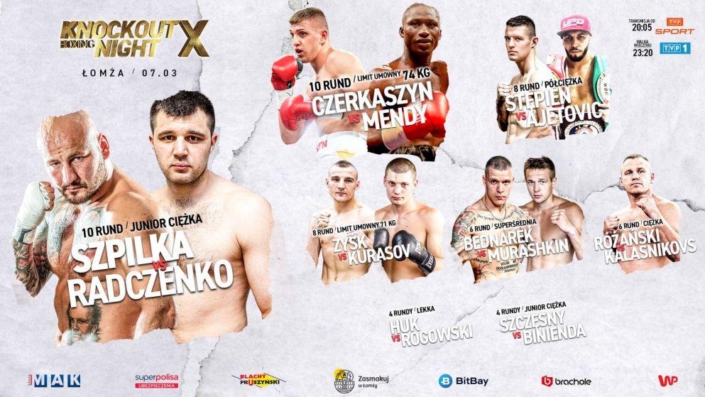 Znalezione obrazy dla zapytania: knockout boxing night 10