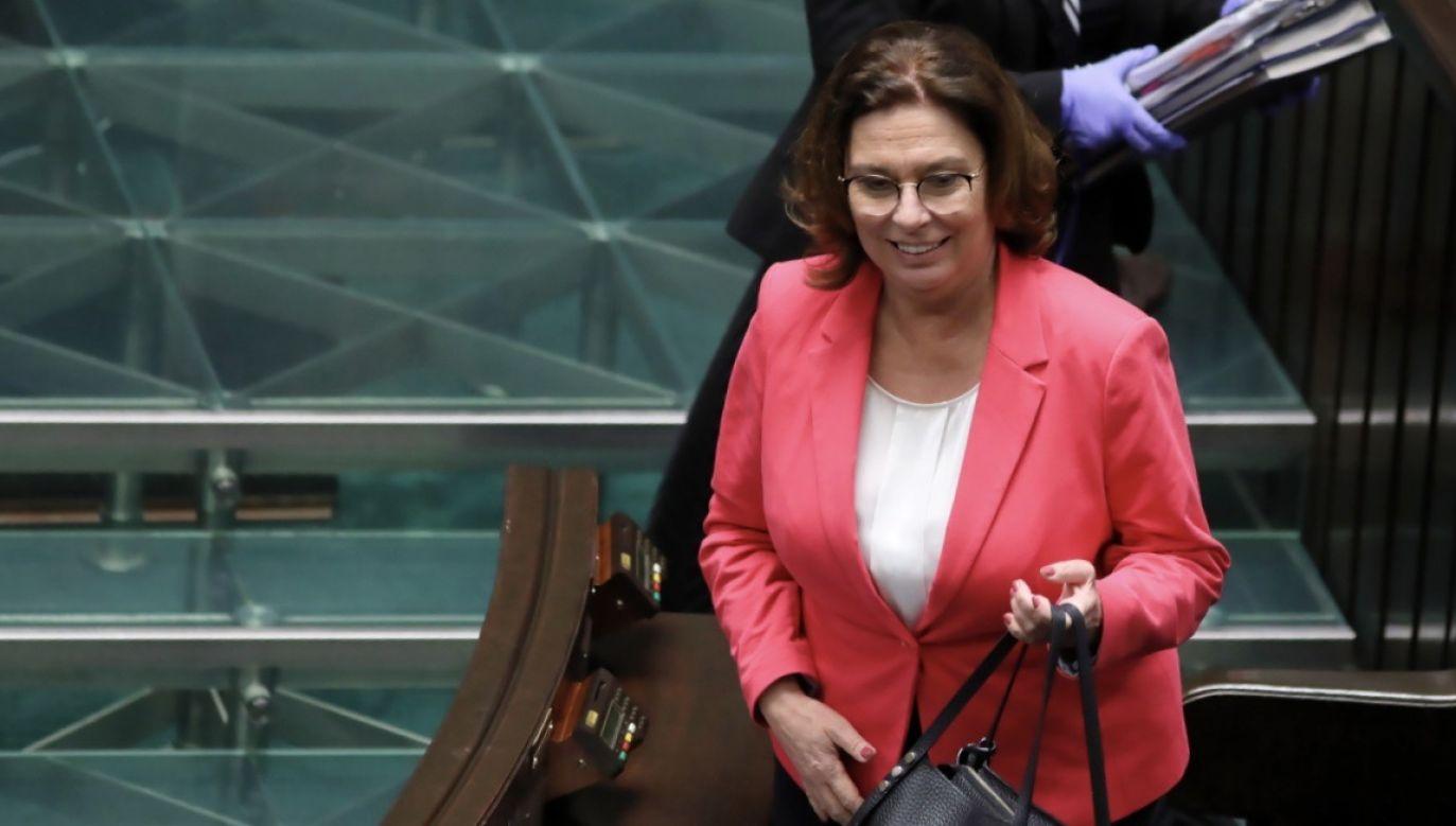 Wicemarszałek Sejmu Małgorzata Kidawa-Błońska (fot. PAP/Leszek Szymański)