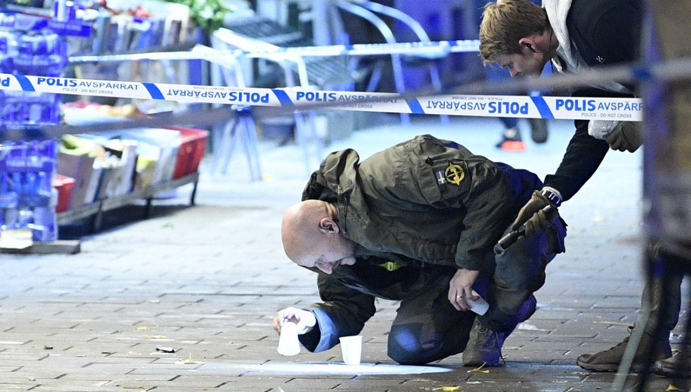 Alert w Szwecji po kradzieży w siedzibie rządu (fot. PAP/ EPA/JOHAN NILSSON)