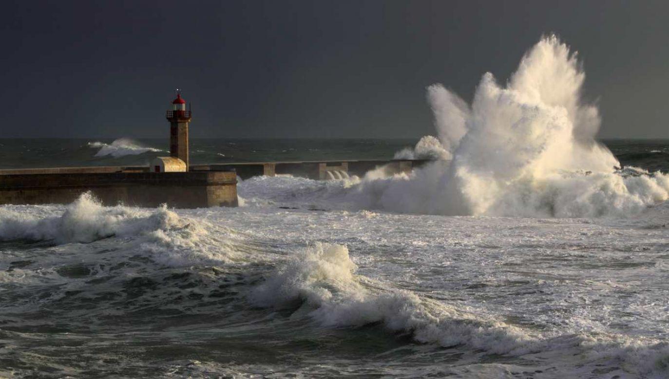 Burza Alfa pojawiła się u wybrzeży Portugalii  (fot. Shutterstock/Zacarias Pereira da Mata)
