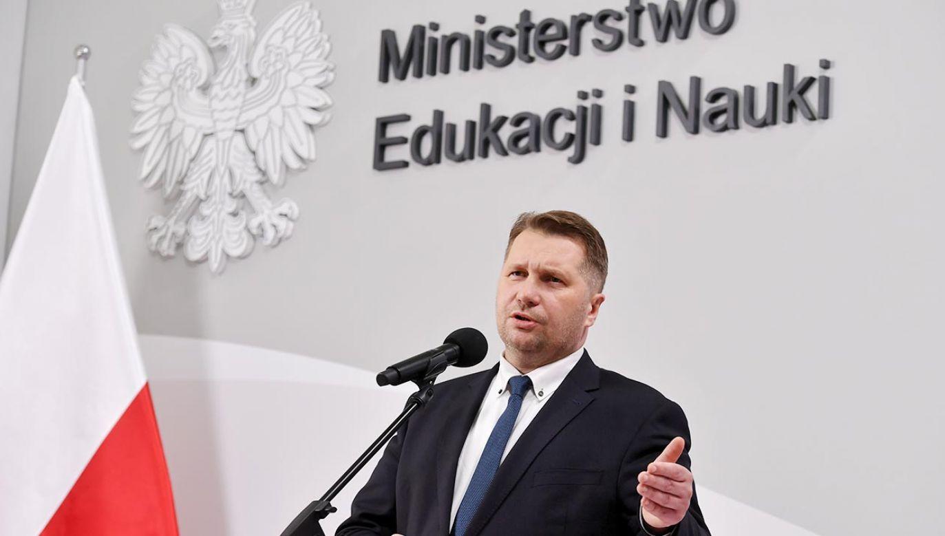 Szef MEiN Przemysław Czarnek (fot. PAP/Piotr Nowak)