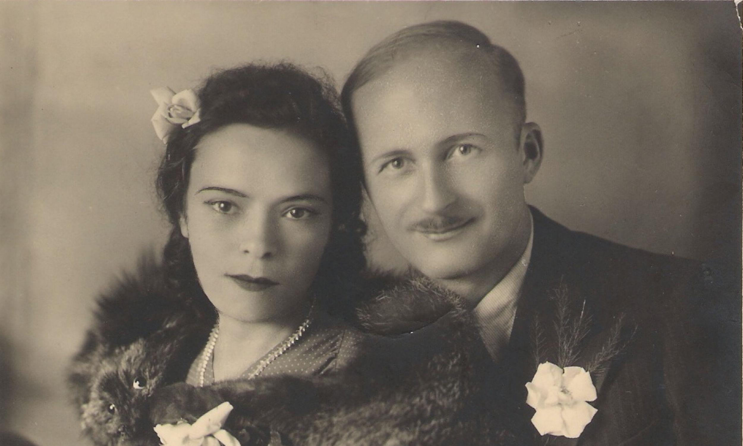 Ryszard Siwiec z żoną