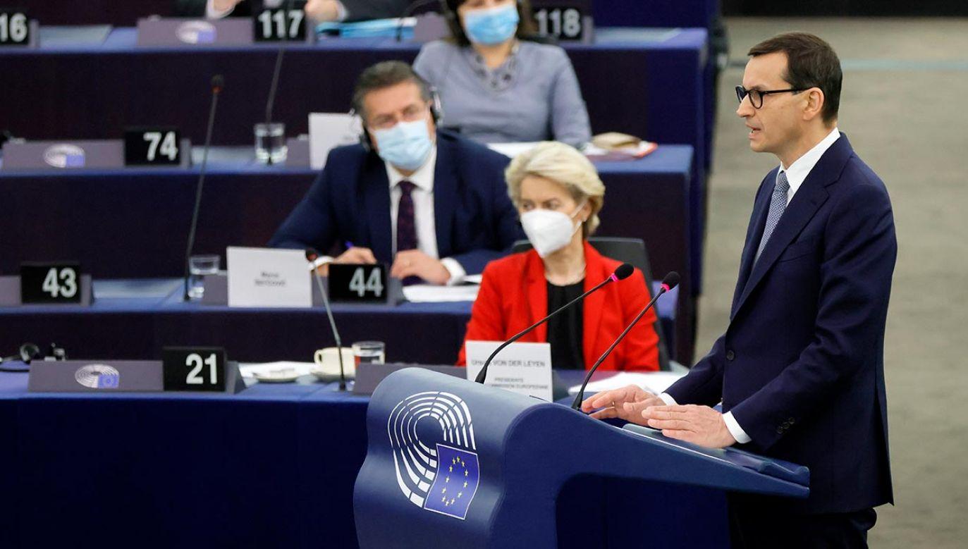 Mateusz Morawiecki (fot. PAP/EPA/RONALD WITTEK / POOL)