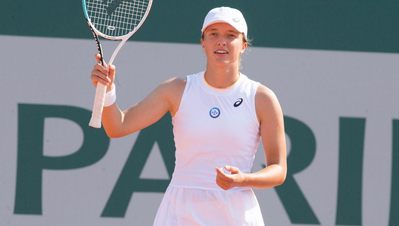 Iga Świątek utrzymuje wysokąpozycję w rankingu WTA (fot. Getty Images)