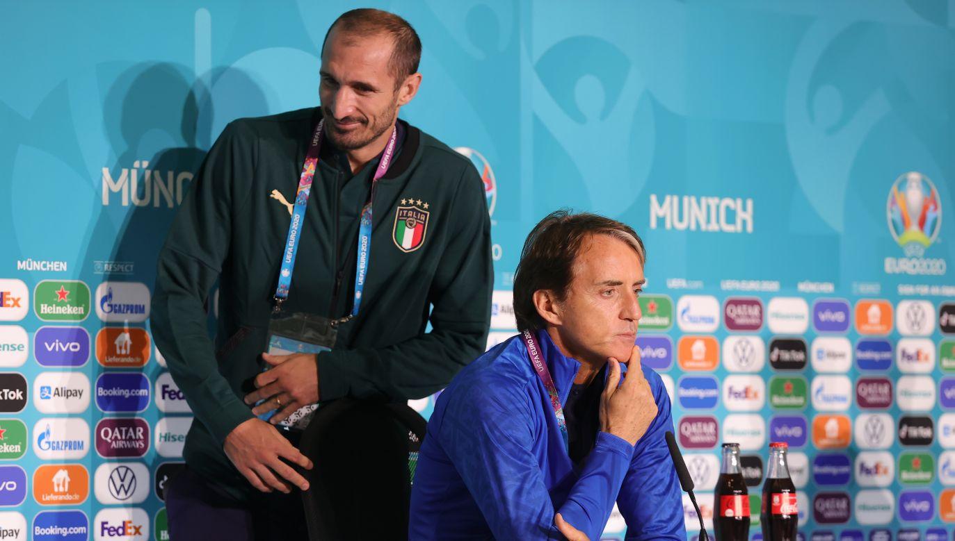 Giorgio Chiellini i Roberto Mancini (fot. Getty Images)