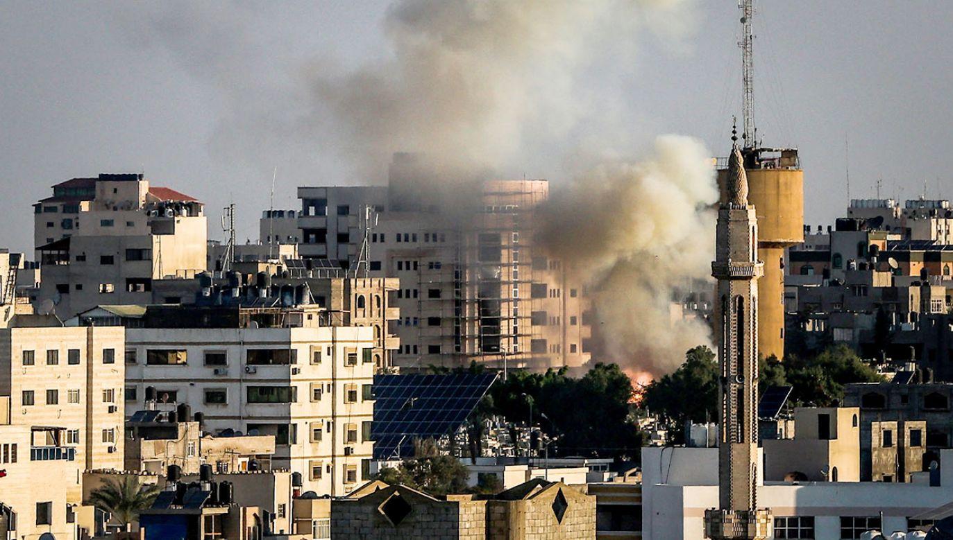W izraelskim nalocie zginął szef palestyńskiego Islamskiego Dżihadu (fot. Majdi Fathi/NurPhoto via Getty Images)