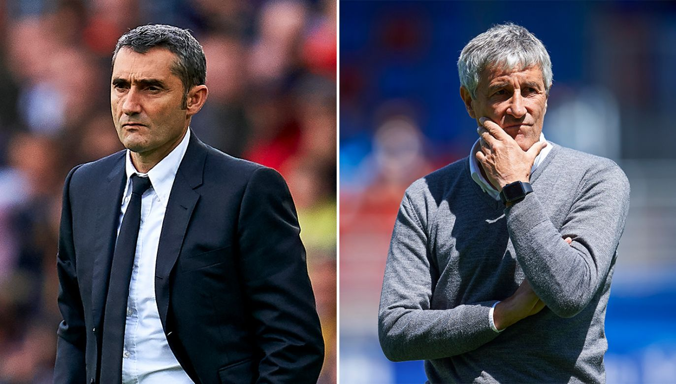 Ernesto Valverde i Quique Setien (fot. Quality Sport Images/Getty Images, Juan Manuel Serrano Arce/Getty Images)