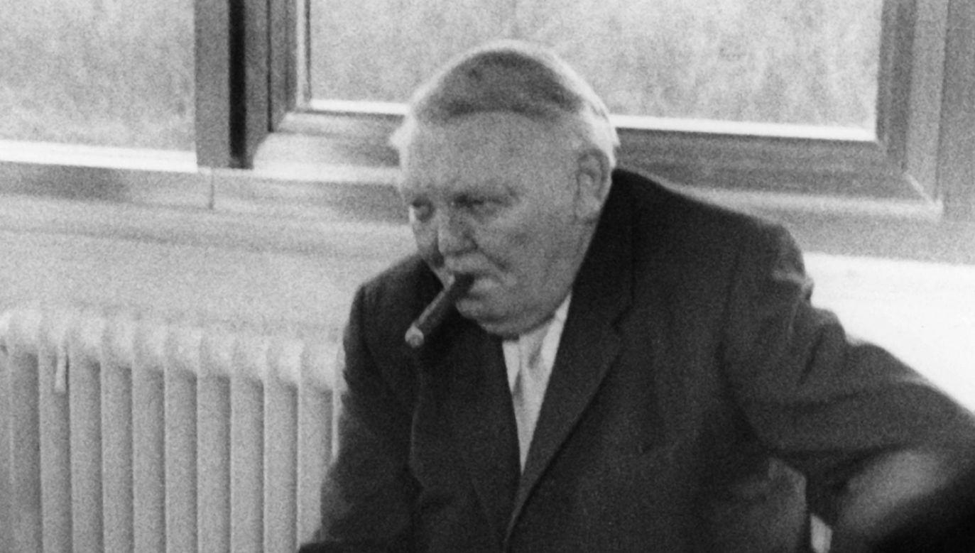 Przyszły twórca zachodnioniemieckiego cudu gospodarczego w czasie wojny twierdził, że Polacy mają służyć Niemcom (fot. PAP/DPA)