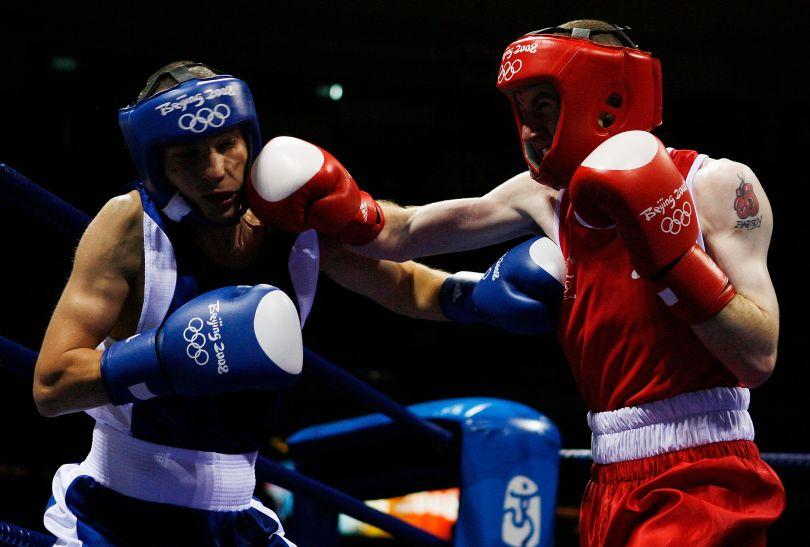 Maszczyk (L) w Pekinie odpadł w ćwierćfinale (fot. Getty Images)