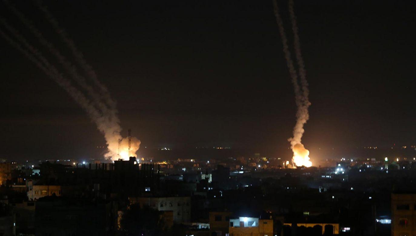 Kilkadziesiąt osób zostało rannych (fot. Abed Rahim Khatip/Anadolu Agency via Getty Images)