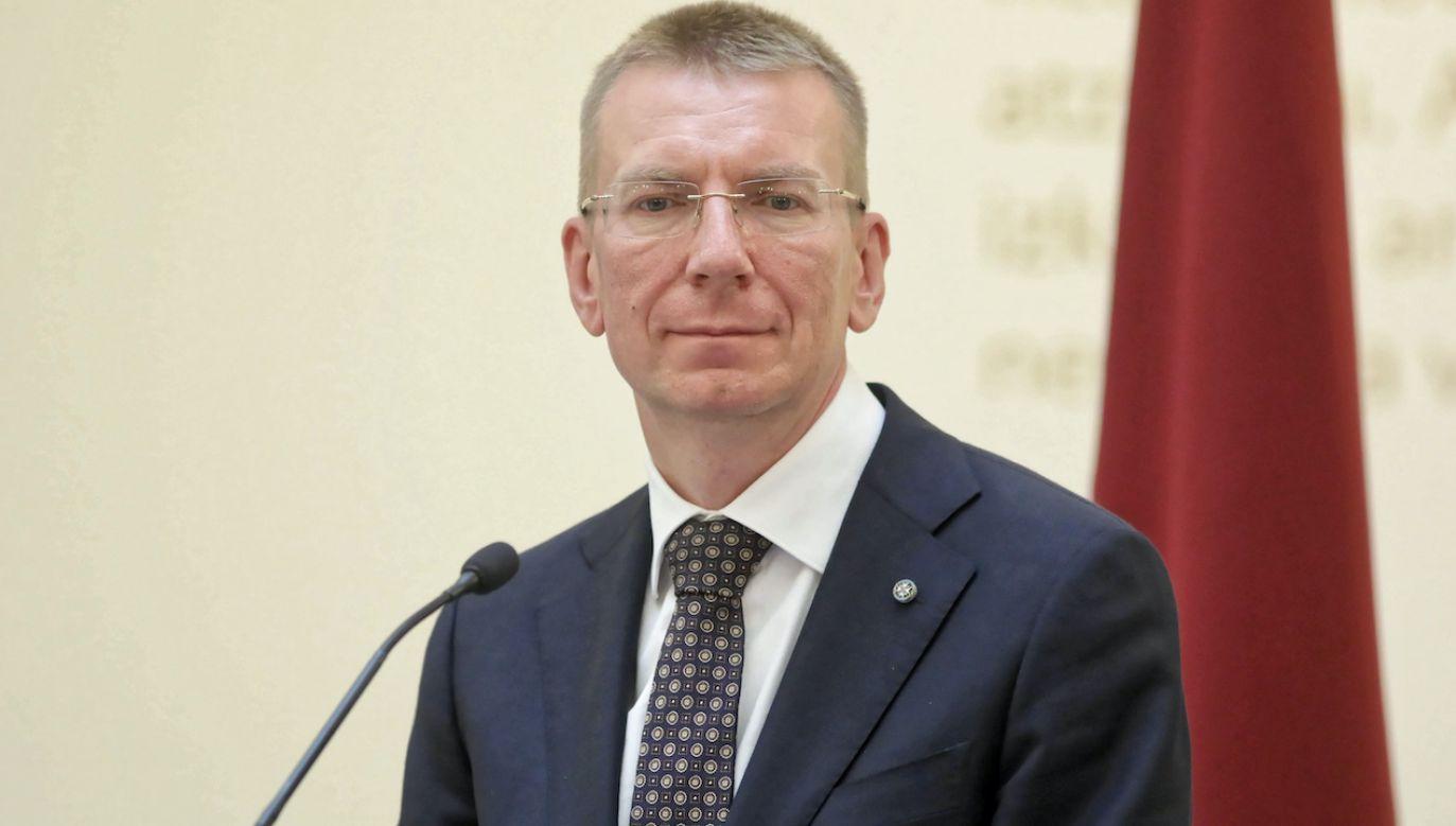 Edgars Rinkēvičs skomentował decyzję czeskich władz  (fot. arch.PAP/Leszek Szymański)