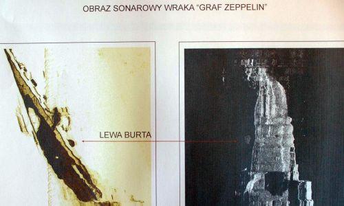 Graf Zeppelin spoczywa na głębokości ponad 80 m, jakieś 55 km na północ od Władysławowa, w pobliżu Morskiej Kopalni Ropy Naftowej na złożu B3. Odkryli go w 2006 r. pracownicy Geotechniki i Radiogeodezji Petrobalticu, w pobliżu Morskiej Kopalni Ropy Naftowej na złożu B3. Fot. PAP/Stefan Kraszewski