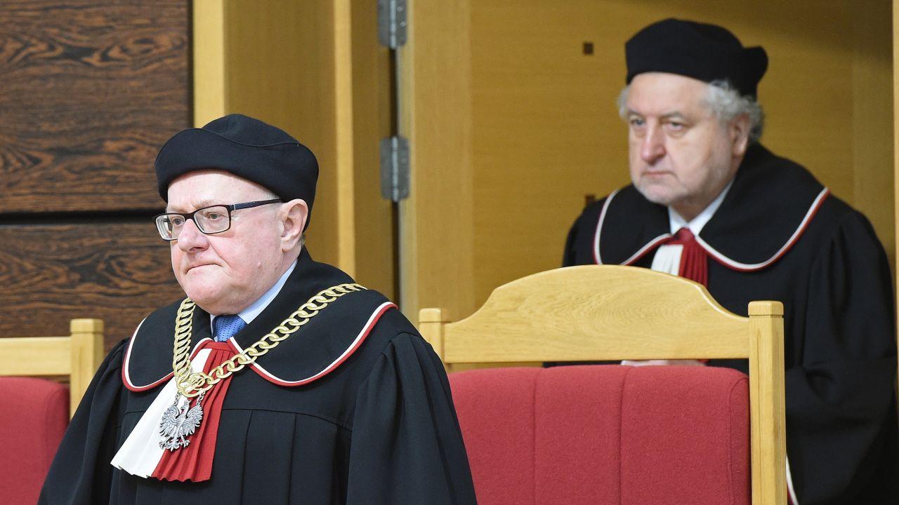 Sędziowie Stanisław Biernat i Andrzej Rzepliński (fot. arch. PAP/Radek Pietruszka)