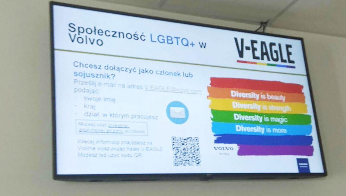 Pracownikom zaproponowano dołączenie do społeczności LGBTQ+ (fot. portal tvp.info)